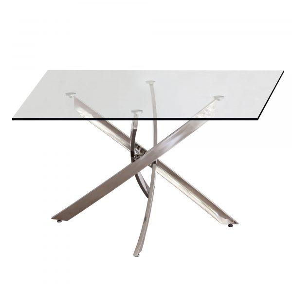 mesa de comedor pata cromada