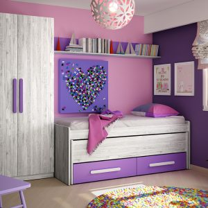 dormitorio color artic morado