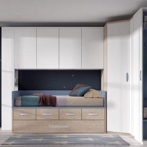 habitación juvenil con armario rincón
