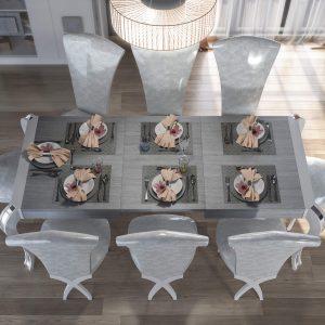 composicion muebles mesa y sillas
