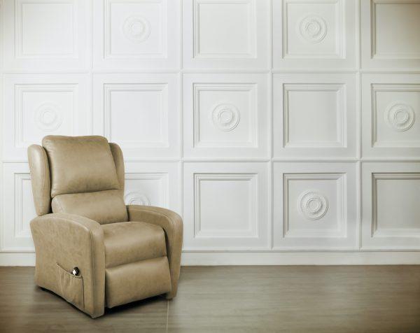 sillón con tejido antimanchas