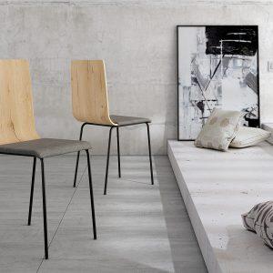 4 sillas de madera estilo dubai