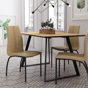 silla con estructura metálica