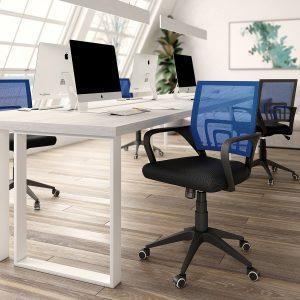 silla de oficina color negro